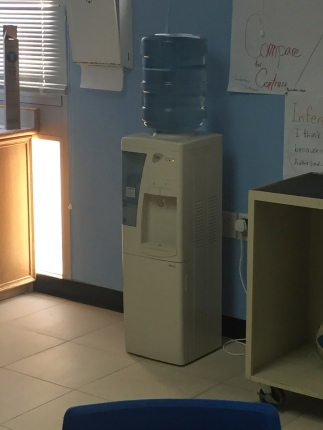 "Water jugs inhabit most classrooms. It saves on the constant ""Can I go get a drink?"" requests from students."